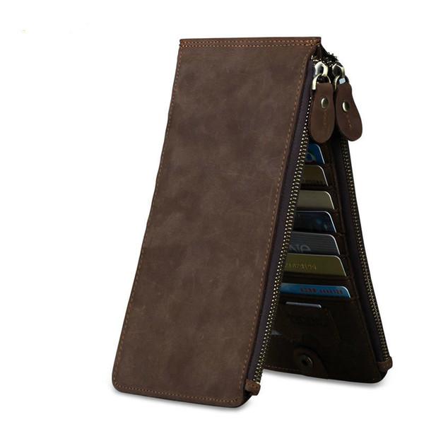 Vintage Genuine Leather Men Credit-card Holders Male Cowhide Multifunction Card Wallet With 18 Slots PR054051