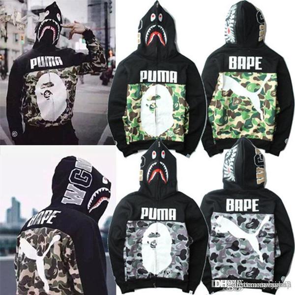 Erkekler 'S Kapüşonlu Hoodies Kamuflaj Rüzgarlık Fermuar Hoodies Moda Hırka Eğlence Ceket Popüler Marka Japon Yaka Polar Hoodie