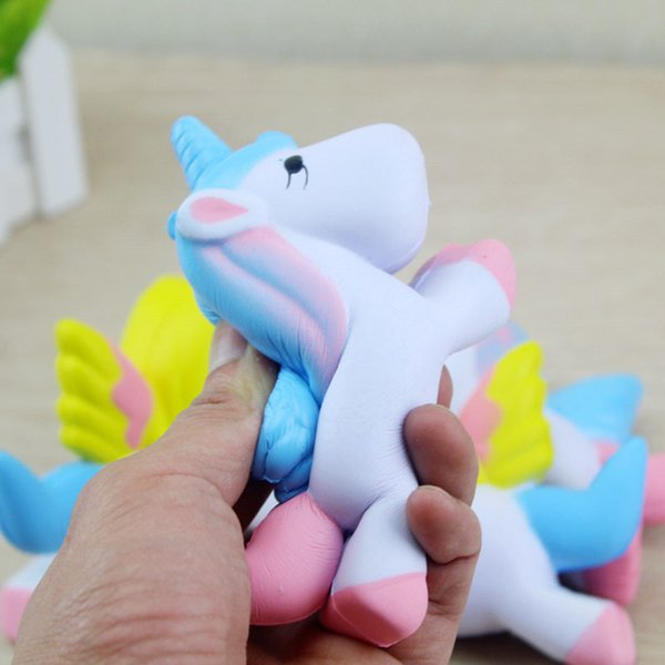 Kids Soft Toys Unicorn Wholesale 11CM Squishies Slow Rising Jumbo Kid Toys Cute Phone Strap Pendant Sweet Scented Bread Cake Toys 2Colors