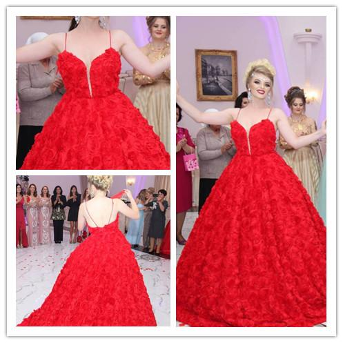 Red Lace Ball Gown Plus Size African Wedding Dresses Cheap 2019 Vintage Wedding Gowns Nigeria Elegant abito da sposa Bridal Gowns