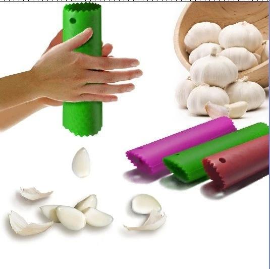 Hot sell 30PCS Kitchen Craft Garlic Peeler Silicone Easy Roll Garlic Peeler Tube Utility Kitchen Gadget Peel Stripper Tool Mix Colors
