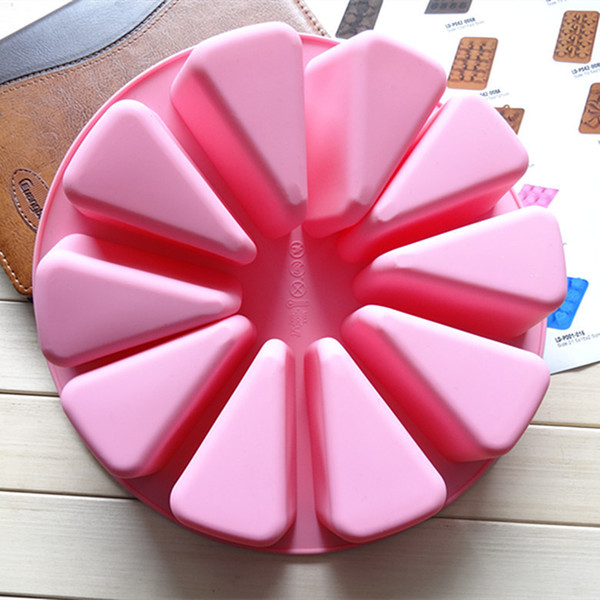 CORATED Silicone cake TOOLS handmade soap molds large triangular watermelon of the mould