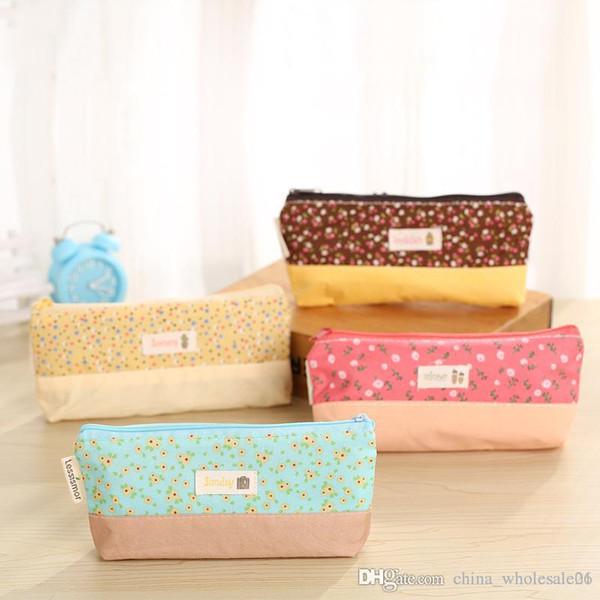 (1Pcs/Sell) Broken Beautiful Cloth Pencil Case PencilsBags Kawaii Girl Capacity School Supplies Stationery Cosmetic Bag
