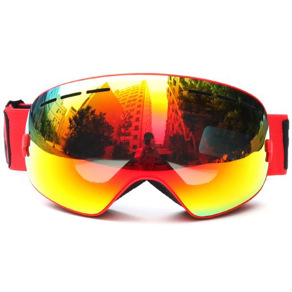 Yeni 5 Renkler Benice Marka UV400 Anti-Sis Çift Lens Kayak Gözlük Kadın Erkek Elastik Kemer ile Ultralight Snowboard Gözlüğü