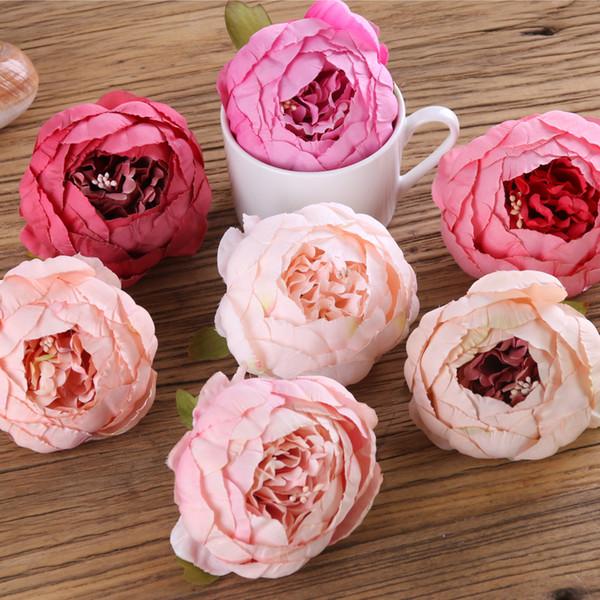 20 color Artificial Silk flower Heads Peony Bud Big Rose Flower Heads wholesale for Wedding Decor,Flower Wreath, Flower Garland,Flower Ball