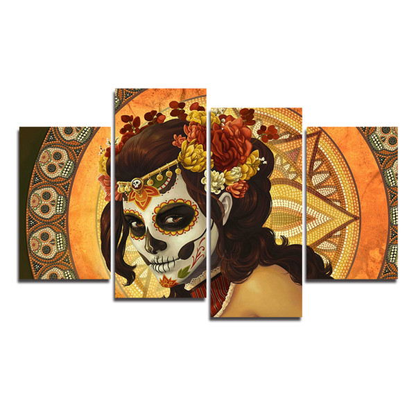 Acheter Jour Des Morts Toile Hd Imprimé Moderne Abstrait Mur Art Peinture Murale Photos Pour Salon Décor Sans Cadre De 19 53 Du Print Art Canvas