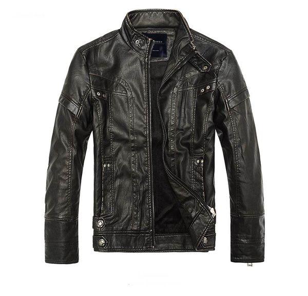 Mens Leather Jackets Men Jacket High Quality Classic Motorcycle Bike Cowboy Jackets Male Plus Velvet Thick Coats