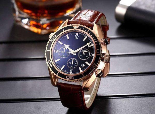 New Luxury mechanical men High Quality quartz Movement Wristwatches James Bond 007 Mens Sports Chronometer Watch