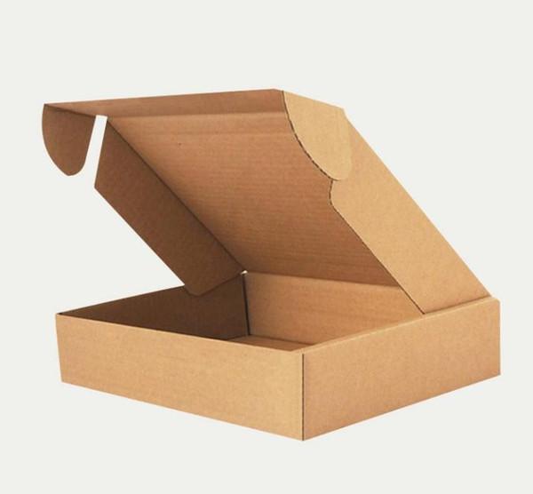 Toptan-100 adet Kraft Kağıt Ambalaj Kutuları 20 * 14 * 4 cm Düğün / Parti Favor Sabun / Kek / Macaron / Çerez Ambalaj Hediye Kutusu SN1704