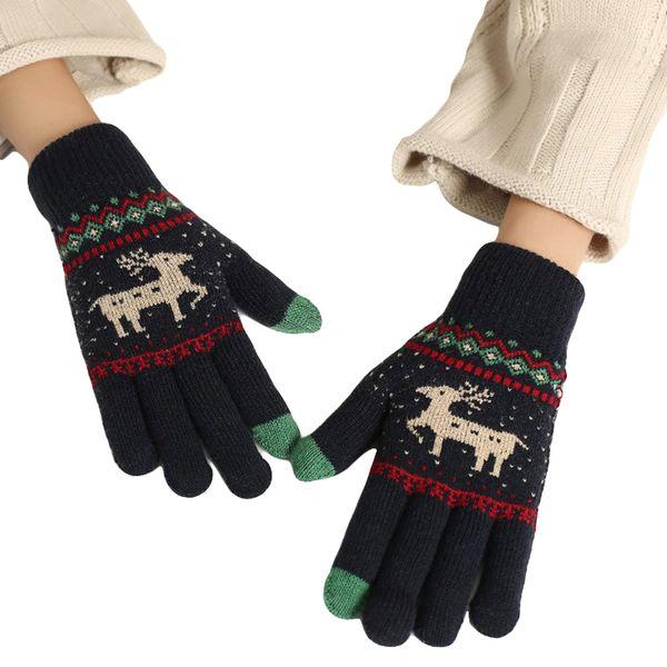 250PAIRS / LOT Women Knitted Winter Warm Gloves Girls Animal Pattern Cute Full Finger Mittens Gloves