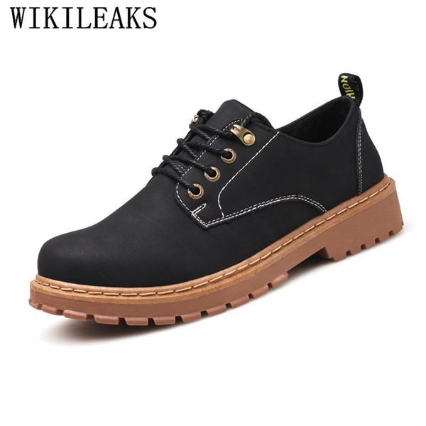Erkekler Için klasik Erkekler Ayakkabı Resmi Gelinlik Oxfords Ayakkabı Retro Süet Deri Siyah Platformu Çalışmak