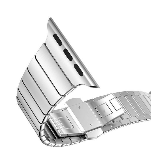 El mejor corchete de la mariposa cerradura del lazo del vínculo del acero inoxidable de la banda para el reloj de Apple Correa de pulsera del acoplamiento de la correa 38m m 42m m