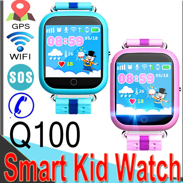 2018 Q100 GPS Smart Watches for Children Baby Watch with WIFI 1.54inch Touch Screen SOS Call Monitor Pedometer Q10