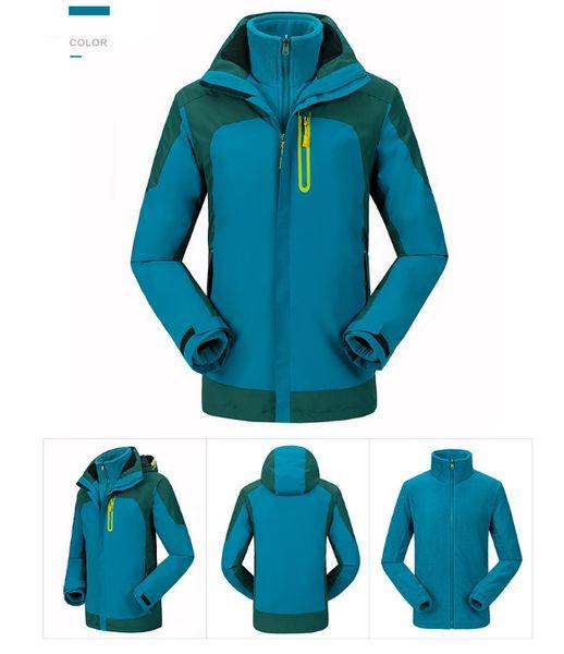 men's outdoor sports jacketsManufacturers direct outdoor men and women's pair of two-piece fleece thickening climbing suit snowsuit s-2xl