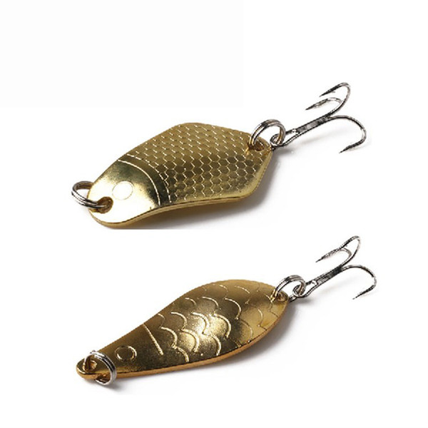 Metal Spinner Spoon Fishing Lure Hard Baits Sequins Noise Paillette With Treble Hook Gold Fishing Baits Tackle 10.5g 11.5g