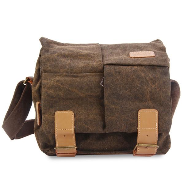 Caden Kameratasche Kamera Schultertaschen Digital Foto Video Leinwand Soft Sling Bag Pack DSLR Kleine Reisetasche für Canon Nikon Sony