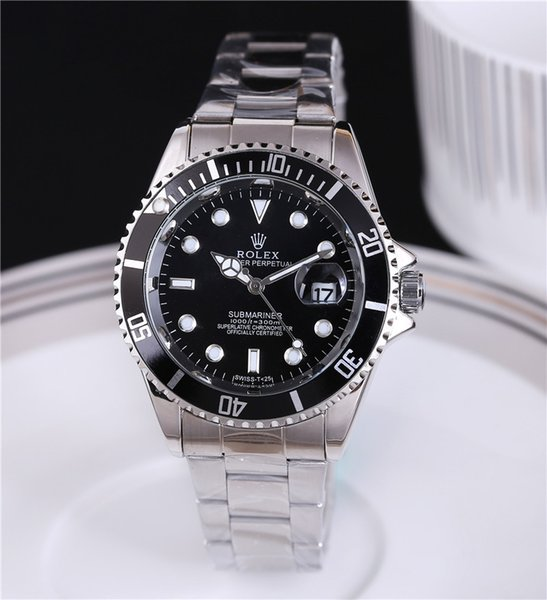 Drop shipping 1pcsNew brand watches for men watch automatic dive watch Stainless steel sheet bezel sapphire glass steel Free shipping.
