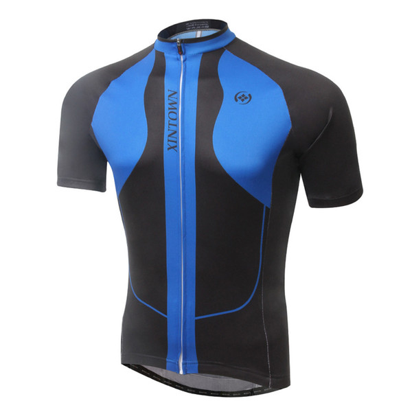 ELOS-XINTOWN Men s Summer Cycling Sport Jerseys Bicycle Clothing Mountain Bike  Short Sleeve Zipper Quick a633d6d36