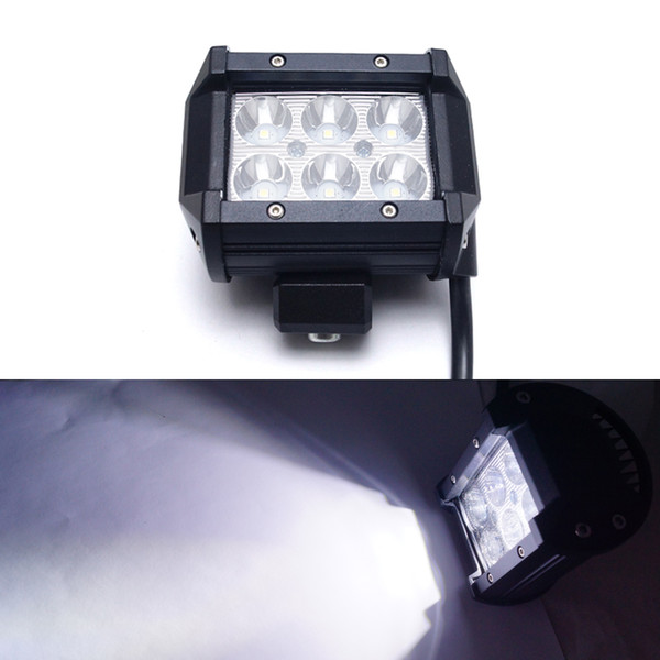 4 Inch 18W 6LED Chips LED Work Light Offroad Driving Spot Light Bar For ndicators Motorcycle Driving Boat Car Tractor Truck #1071