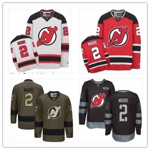 hot sale online 7736f 1491a 2018 2018 Can New Jersey Devils Jerseys #2 John Moore Jerseys  #WOMEN#YOUTH#Men'S Baseball Jersey Majestic Stitched Professional  Sportswear From ...