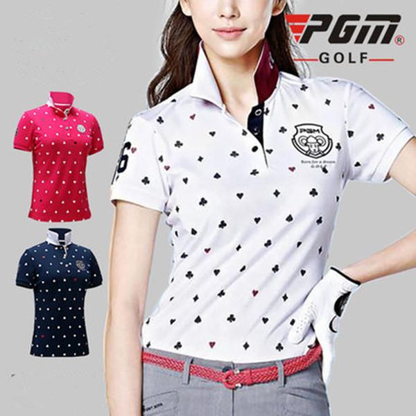 PGM nouveau golf vêtements dames T-shirt respirant golf à manches courtes femmes chemise à séchage rapide tissu respirant doux coréenne femmes