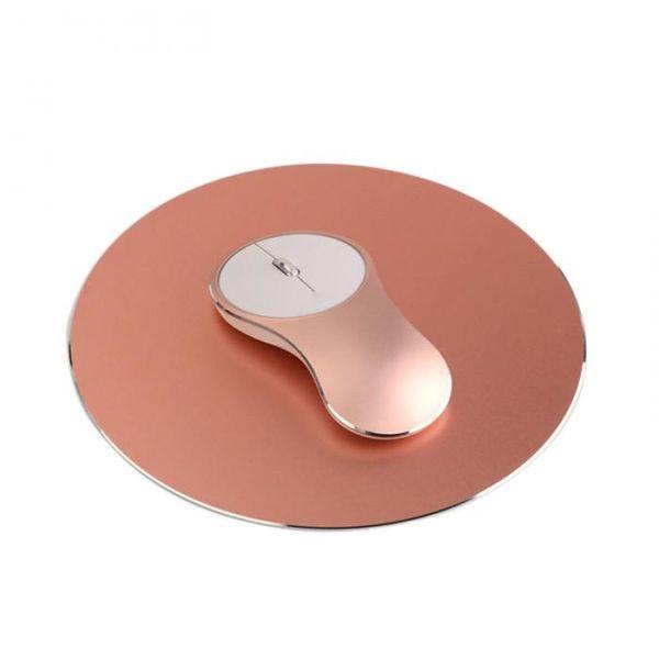 Алюминиевый сплав беспроводной 2.4 ГГц Wifi мышь USB аккумуляторная офисная работа мышь для Windows 8 Win10 ноутбук