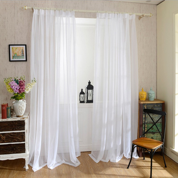 2019 Europe Solid White Yarn Curtain Window Tulle Curtains For Living Room  Kitchen Modern Window Treatments Voile Curtain From Sunflowerxiangyang, ...