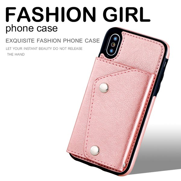 Flip Stand mobile case Leather phone Cases For iPhone x 7 6 6s Plus Luxury Back Cover wallet bag cover
