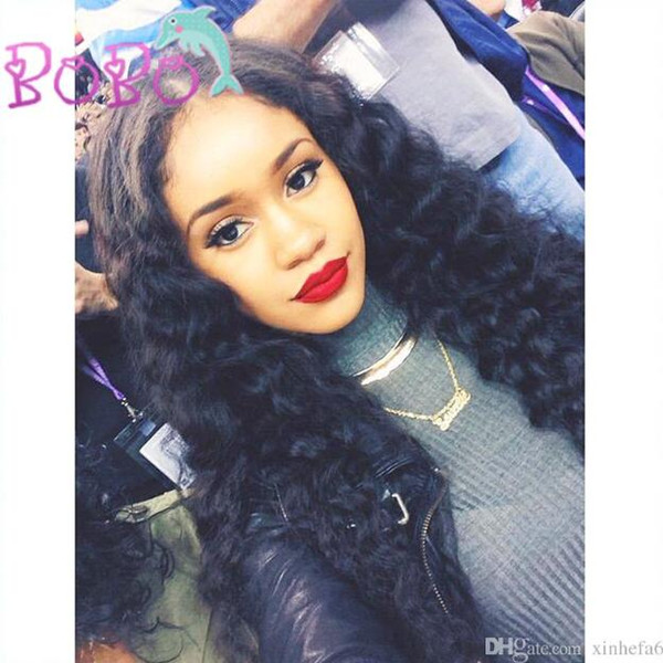 Water Wave Full Lace Front Wigs Human Hair Non Remy Brazilian Short Hair Wigs For Black Women Bleached Knots Pre Plucked
