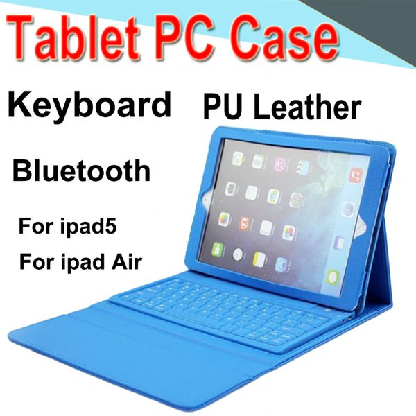Keyboard Tablet Case PU Leather 7inch Wireless Bluetooth3.0 Flip Case Stand Cover Waterproof Shockproof Anti-Dust for iPad 5 / Air XPT-7