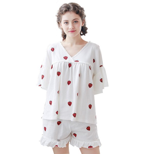 Femmes 2018 Mode Pyjamas Femmes Été Lady Imprimer Sexy Pyjamas Femmes Mignon Pyjamas Ensemble Sexy Sous-Vêtements