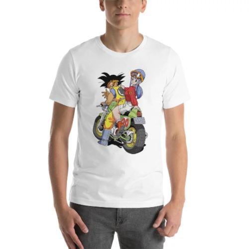 ГОКУ Bulma футболка старинные Dragon Ball Z Акира Toriyama мотоцикл капсула CorpFunny бесплатная доставка мужская повседневная футболка подарок топ