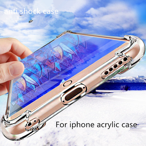 Soft Clear Cases For IPhone X 8 7Plus 6S Anti Shock Anti Shock Absorption Carbon Fiber Design