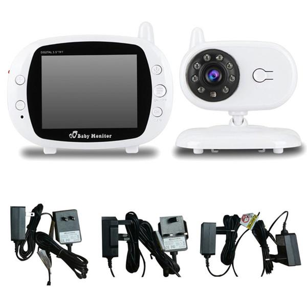 1 Set Baby-Videomonitor-Kamera Drahtloser Empfänger Zwei-Wege-Intercom-Überwachung Musik-Player 3,5-Zoll-LCD-Bildschirm Nachtsicht