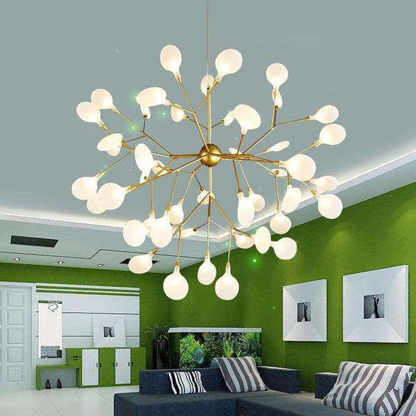 Moderna lámpara de araña luminaria nórdica luminaria accesorios de iluminación industrial para sala de estar dormitorio lámparas colgantes industriales 110-240V