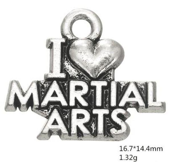 J'aime les charmes de mots de décoration d'arts martiaux