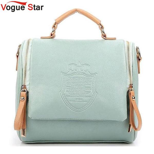 Fashion handbags 2018 new fall PU leather Womne bag British Crown retro shoulder bag Sweet Girl Messenger LB533