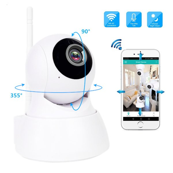 IP Camera 720P HD Wireless Wi-Fi Home Security Camera Baby Monitor Night Vision CCTV Surveillance Support Two Way Audio SD Card