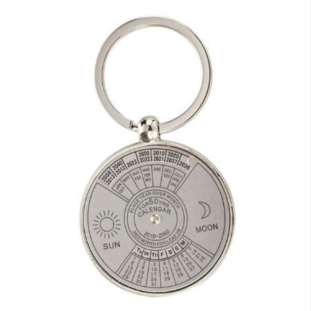 best selling 10pack (Keychain key ring metal Perpetual Calendar pattern