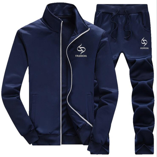 Sportswear Set Men 2018 Nueva marca Wing Print Chándal Conjuntos Hombres 2PCS Sudadera Survetement Jogger Homme Marque Hoodies Trajes