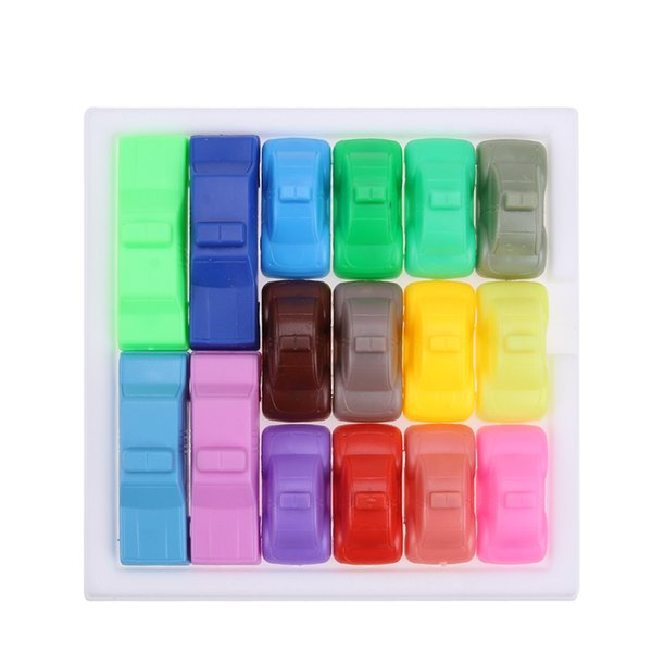 16 Teile / los Bunte Rennwagen Set Herausforderung IQ Labyrinth Spiel Puzzle Spielzeug Puzzle Brinquedo Intelligenz Breakout Auto Kind Geburtstagsgeschenk