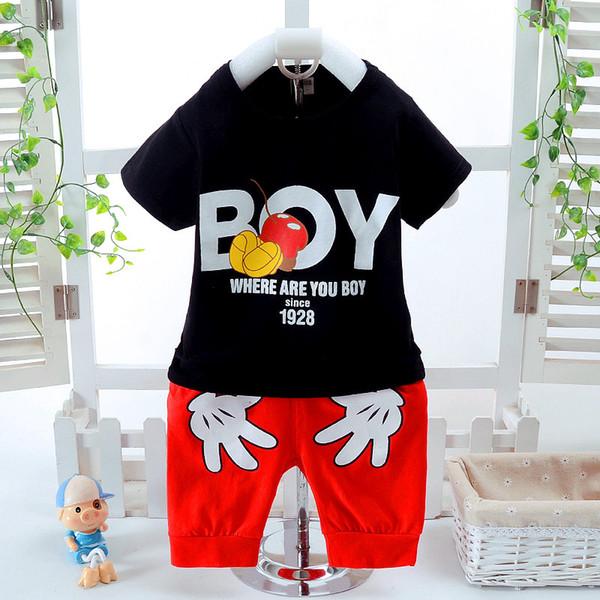 T-shirt + pantalon 2pcs / Lot nouveau-né bébé fille vêtements de mode vêtements bébé filles garçon vêtements 2017 printemps nouveau-né bébé '