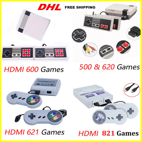 top popular HOT Arrival Mini TV 500 600 620 621 821 Game Console Video Handheld for NES games consoles with retail boxs hot sale toys 2019