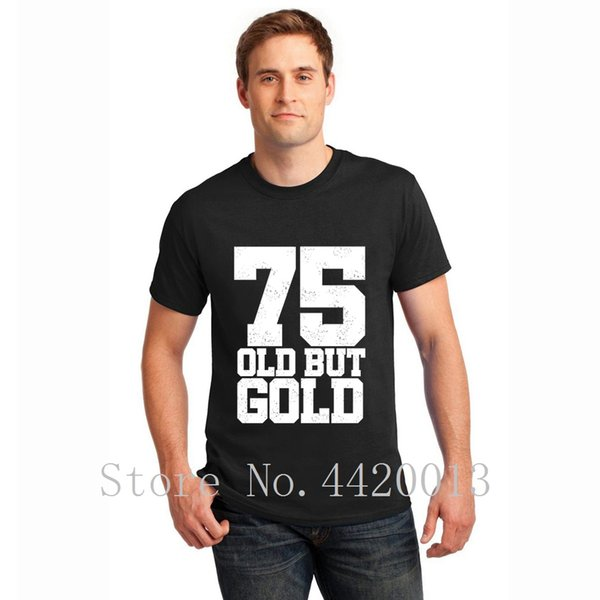 Designer Short Sleeve O Neck 75th Birthday Gift Present Party Anniversaire Child Birth Standard Mens