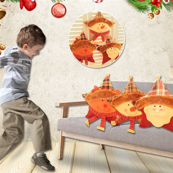 Christmas Children's Toys Decorations Cartoon Five-pointed Star Shape Sofa Pillow Dolls