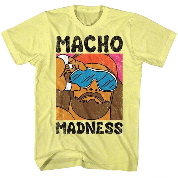 MACHO MAN Men's Short Sleeve T-Shirt YELLOW HEATHER WILD LIFE Funny free shipping Unisex Casual