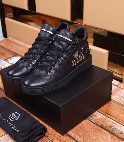 2019 schwarze flache Schuhe mit Schnürung 2075 Männer Kleid Schuhe Mokassins Müßiggänger Schnürschuhe Mönch Riemen Stiefel Treiber Echtleder Sneakers Schuhe