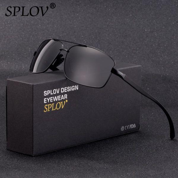SPLOV New Fashion Men Sunglasses Women Polarized Lens Aluminium Magnesium Frame Spring Legs Classic Eyewear Gafas De Sol Hombres