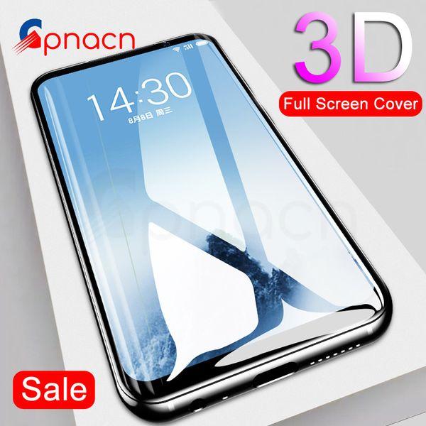 GPNACN 3D Vidrio templado para Meizu M5 M6 Note M5S M6S Pro 7 Protector de pantalla para Meizu 15 16 th Plus Lite M15 Glass Case