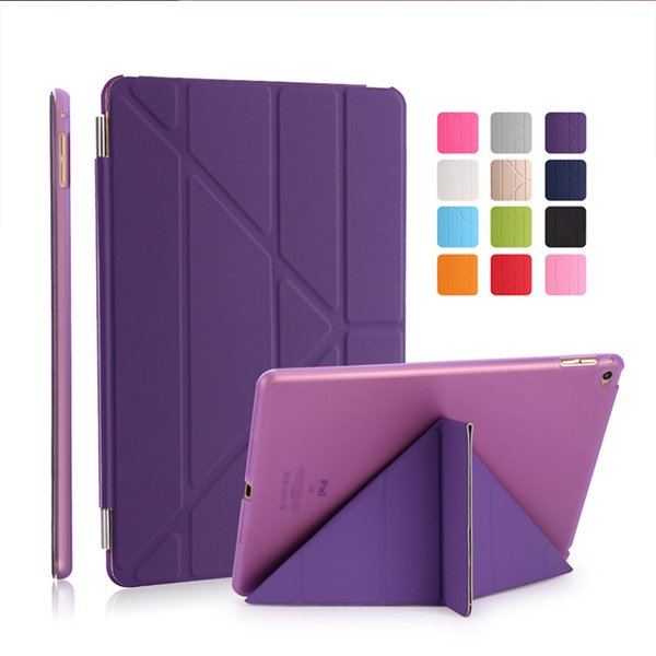 Slim Magnetic Leather For Apple iPad 2 3 4 5 6 Mini Air Pro Smart Cover Hard Back Case